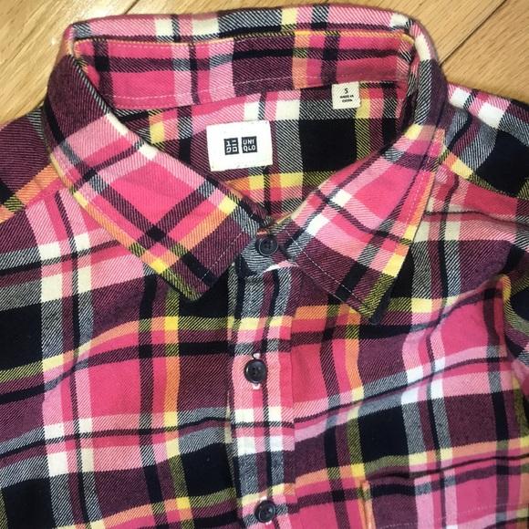 Uniqlo Shirts Uniglo Mens Pink Flannel Size Small Shirt Poshmark